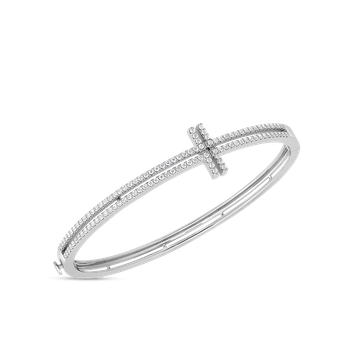 Art Deco Bangle With Diamonds