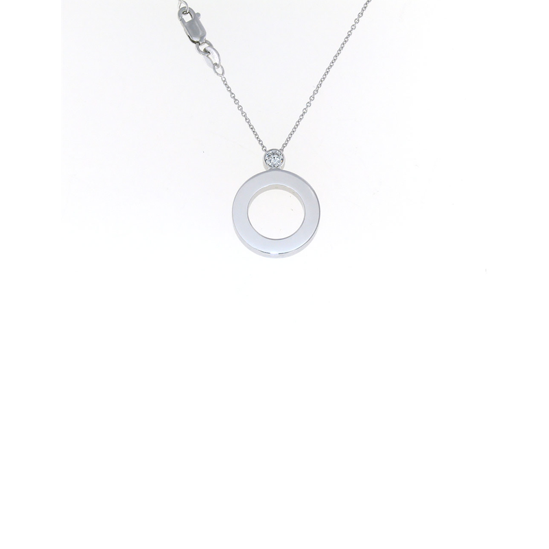 Roberto Coin Cento Pave Baby O Pendant (Without Center)