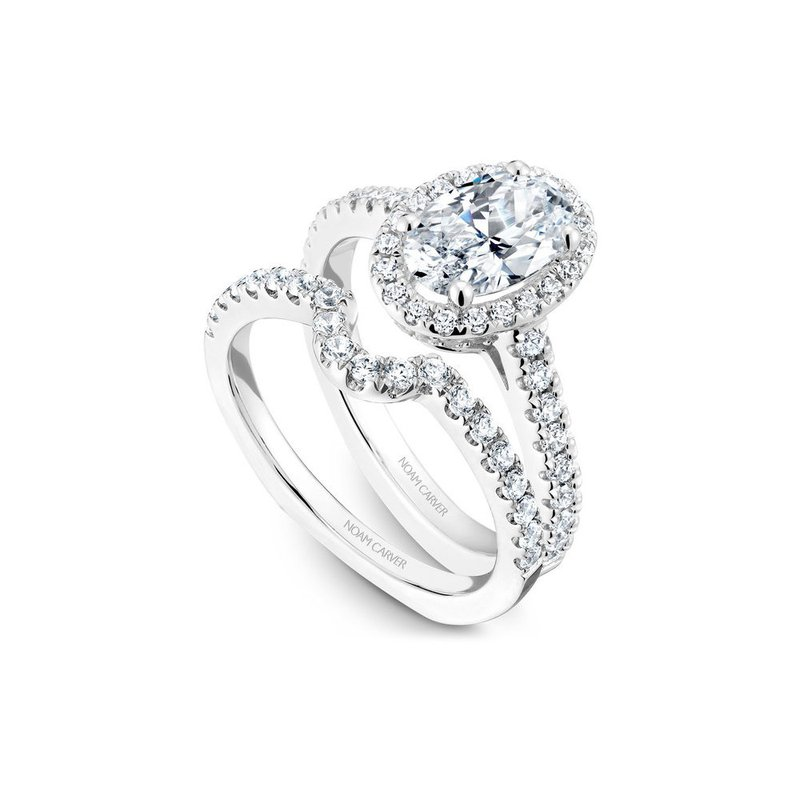 Noam Carver Halo Oval Engagement Ring