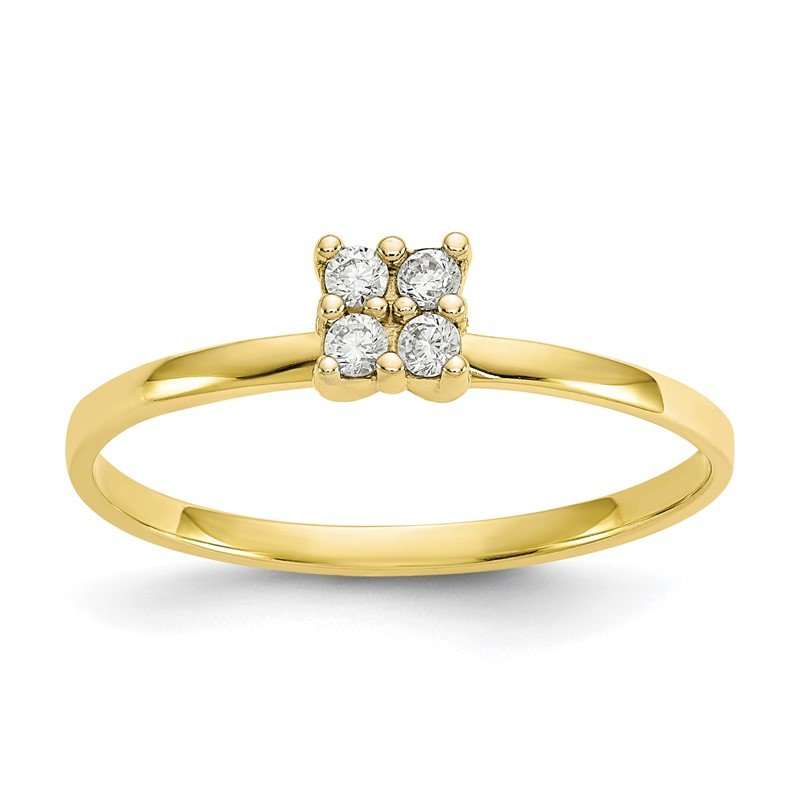 Quality Gold 10k CZ Promise Ring