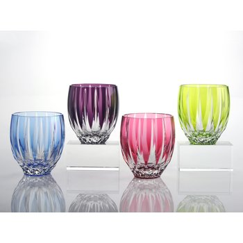 Vita Tumblers Amethyst Blue Rose & Green
