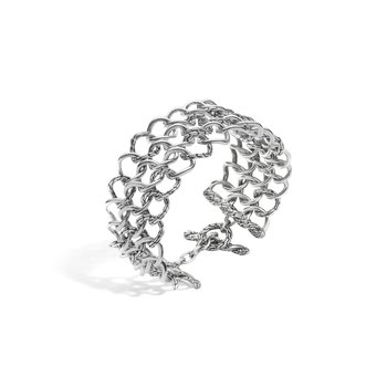 Classic Chain Round Link Wide Bracelet