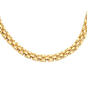 14K Gold 4mm Panther Chain