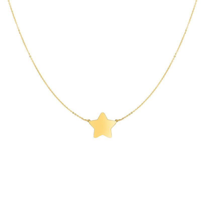 Royal Chain 14K Gold Star Necklace