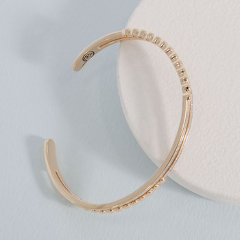 Change It Up Gold Cuff Bracelet