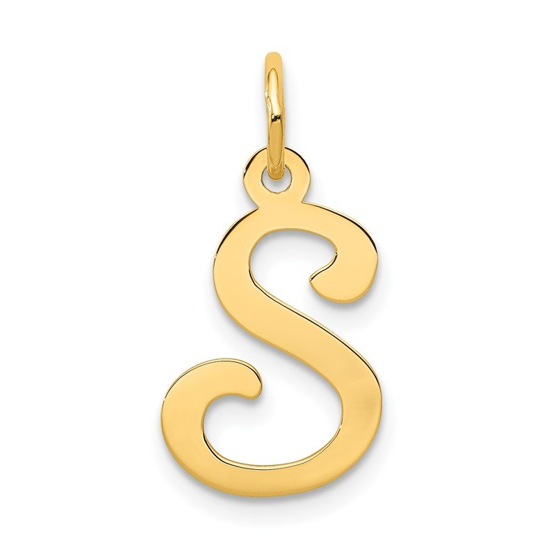 Quality Gold 14KY Script Letter S Initial Charm