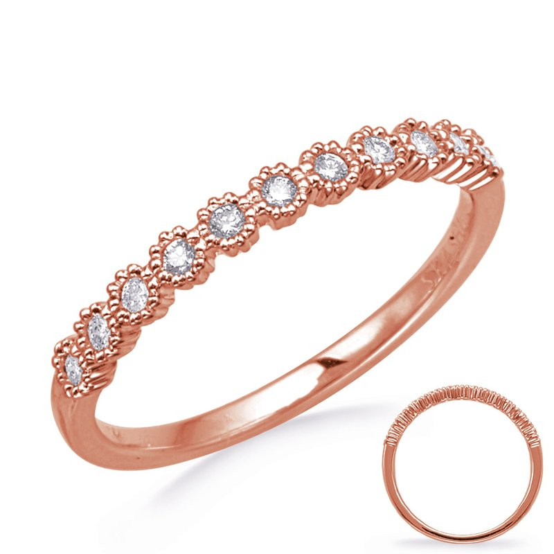 S. Kashi & Sons Bridal Rose Gold Stackable Band