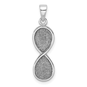 Sterling Silver Rhodium-plate Laser-cut Infinity Symbol Pendant