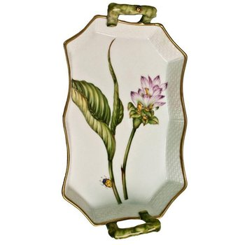 Pink Thistle Tray With Handles