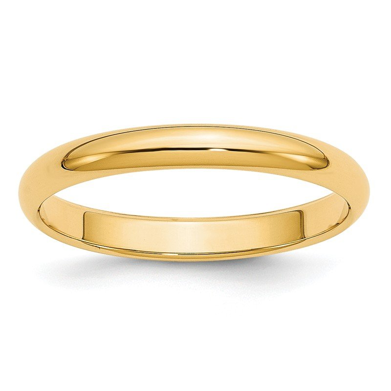 Quality Gold 14k 3mm Half-Round Wedding Band