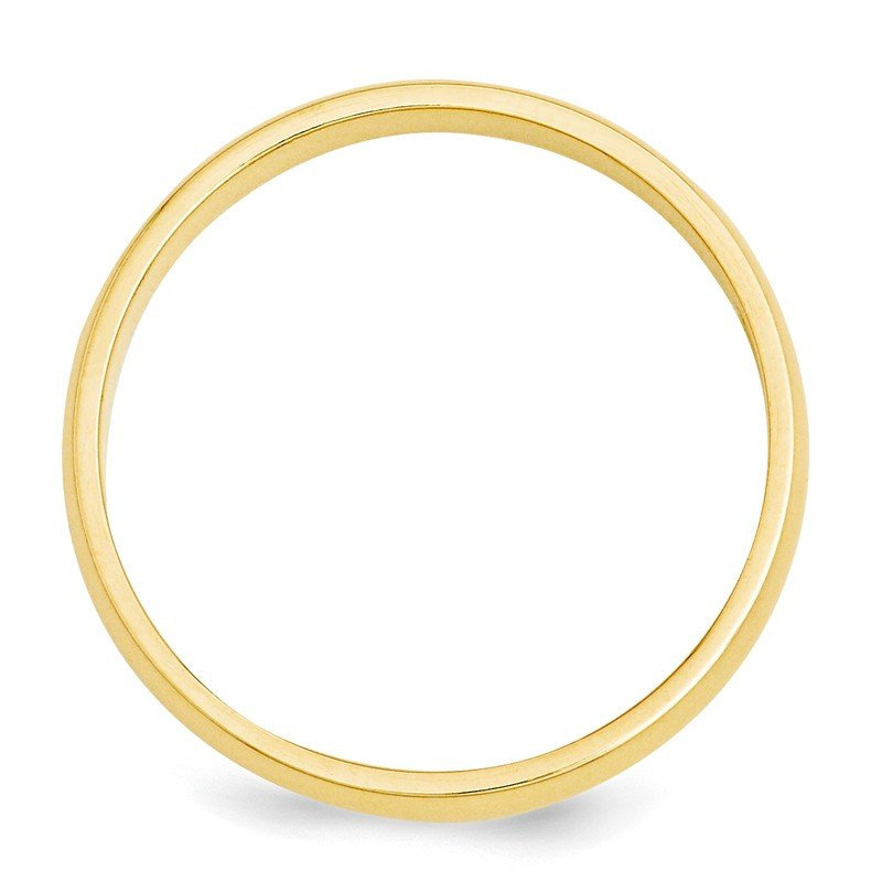14k 3mm Half-Round Wedding Band