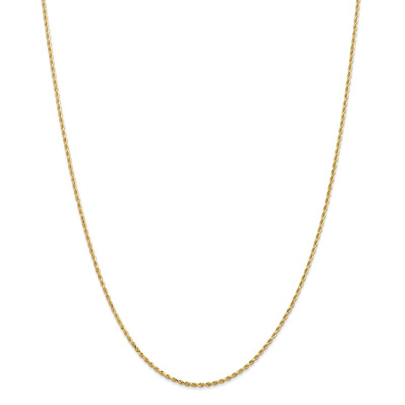 Leslie's Leslie's 14K 1.5mm Diamond-Cut Rope Chain Anklet