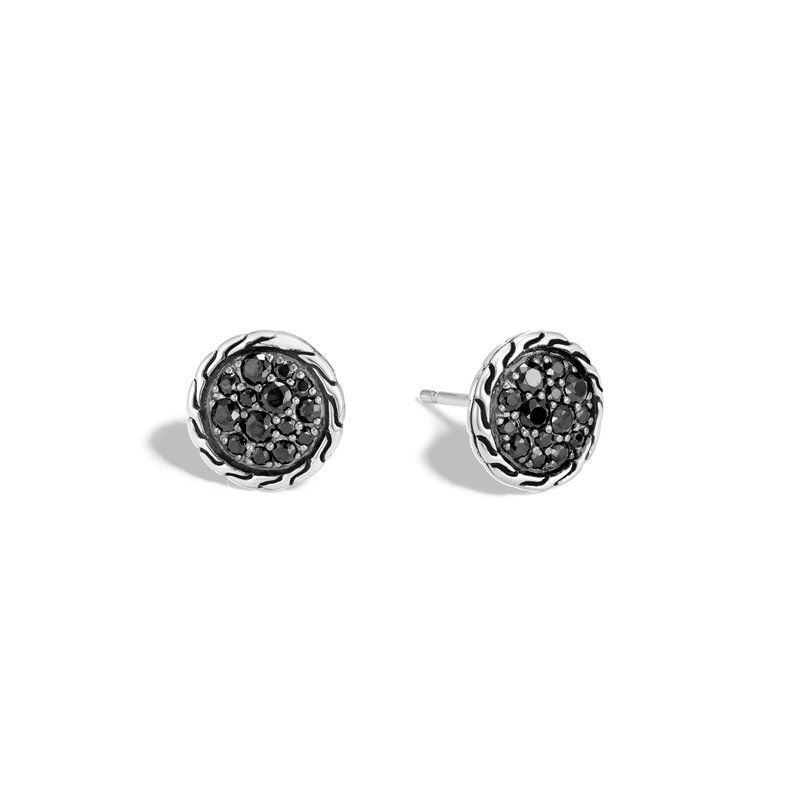 JOHN HARDY Classic Chain 10MM Stud Earring in Silver with Gemstone