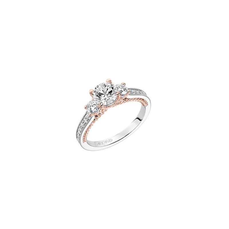ArtCarved Three Stone Diamond Engagement Semi