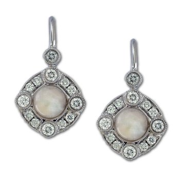 Pearl & Diamond Dangles