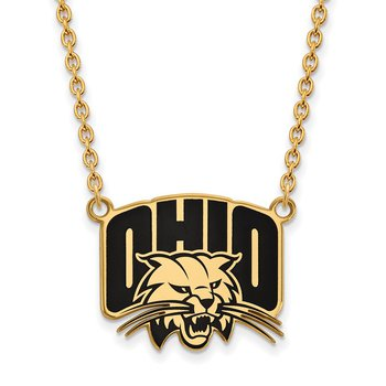 Gold-Plated Sterling Silver Ohio University NCAA Necklace