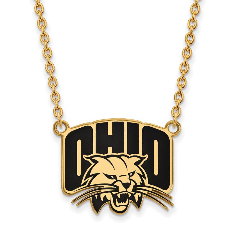 NCAA Gold-Plated Sterling Silver Ohio University NCAA Necklace