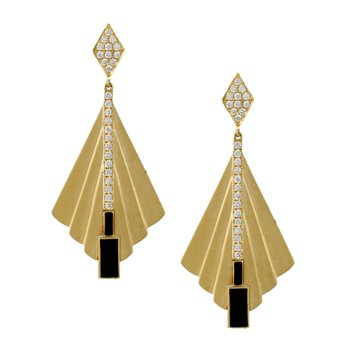 Gatsby Dangle Earrings 18KY