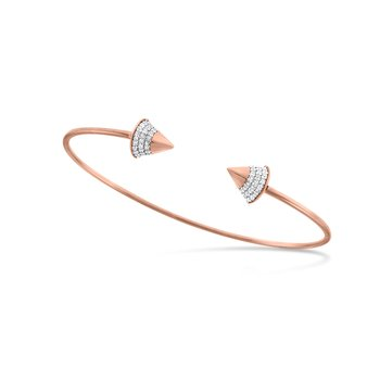 Diamond Spike Bangle Bracelet