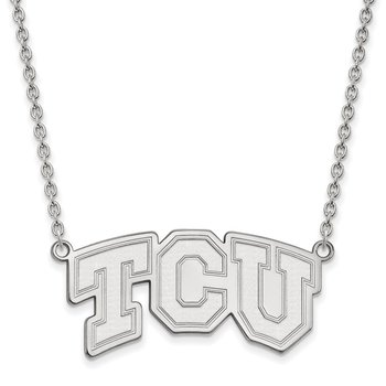 Sterling Silver Texas Christian University NCAA Necklace