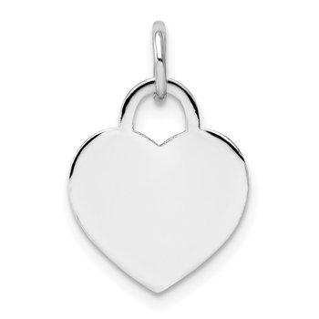 14k White Gold Small Engravable Heart