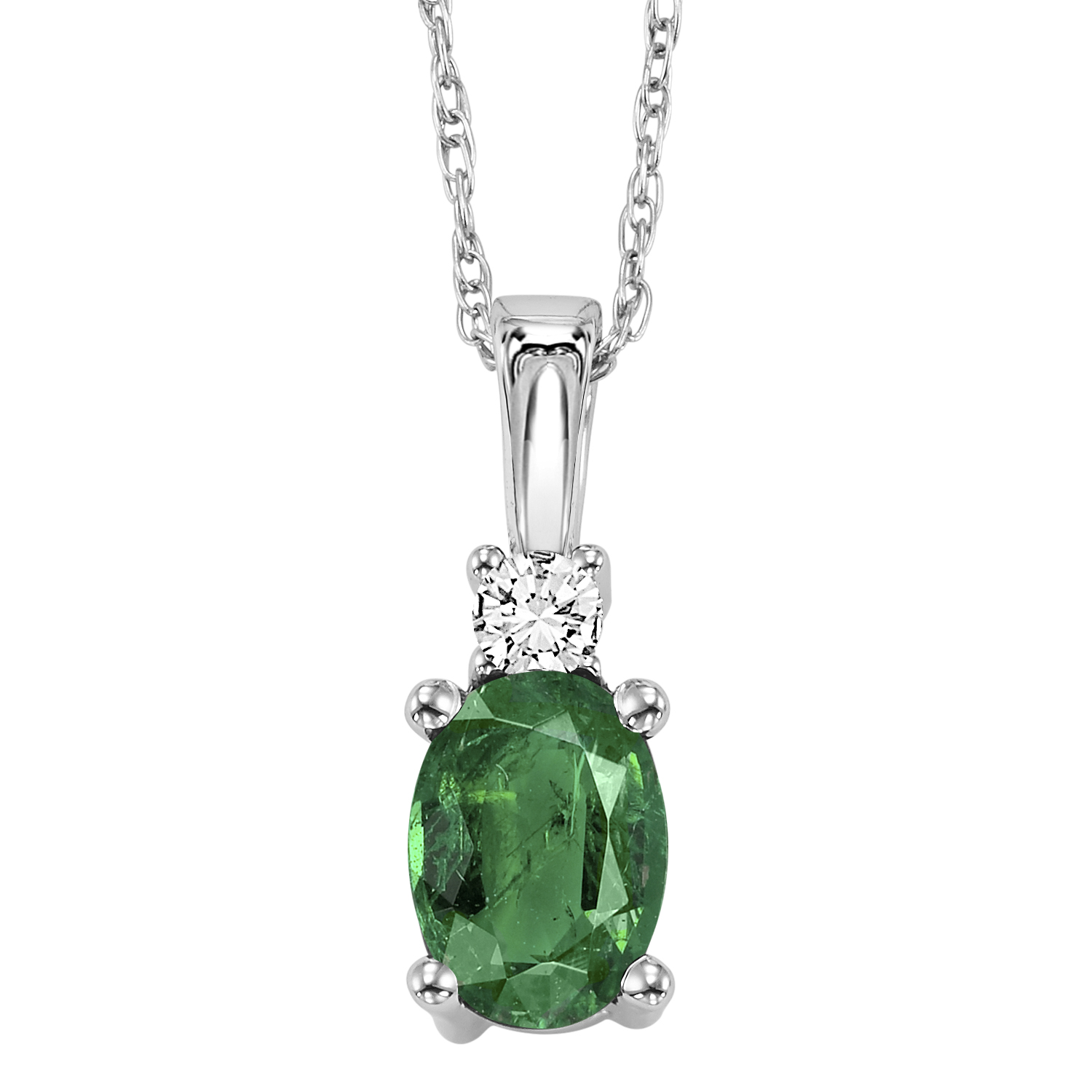 Paw 18.25In Necklace Cubic Zirconia Cheryl M 925 Sterling Silver Rhodium Plated CZ