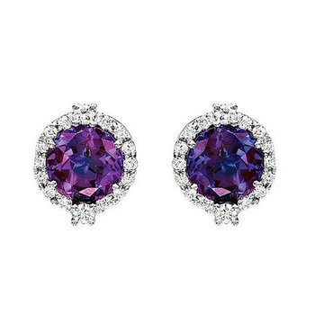 Alexandrite Earrings-CE2264WAL