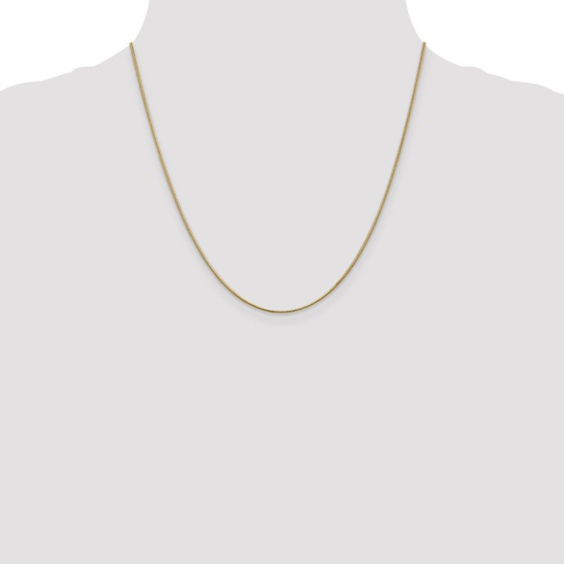 Quality Gold 10k 1.1mm Round Snake Chain