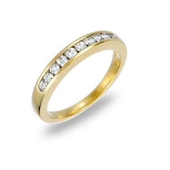 14K YG Diamond Wedding Band Ring 1/3 Ct