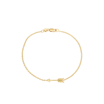 18KT GOLD ARROW BRACELET WITH DIAMONDS
