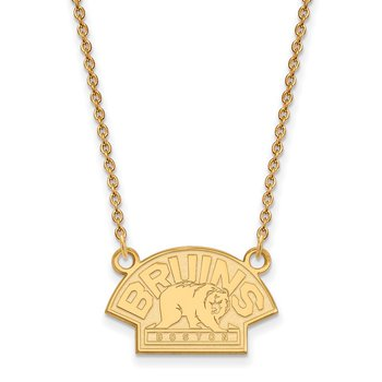 Gold-Plated Sterling Silver Boston Bruins NHL Necklace