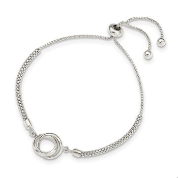 Sterling Silver Polished Adjustable Bracelet