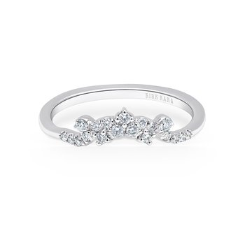 Home Try On Crown Delicate Diamond Replica Wedding Band