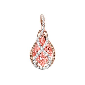 Champagne Sapphire Pendant-CP3908RCS