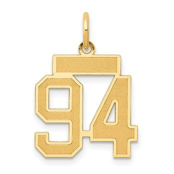 14k Small Satin Number 94 Charm
