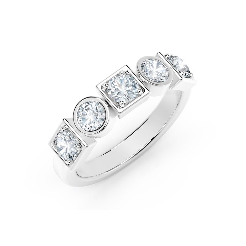 Forevermark Black Label The Forevermark Tribute™ Collection Stackable Bezel Set Diamond Ring