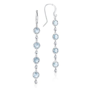 Rain Drop Earrings featuring Sky Blue Topaz