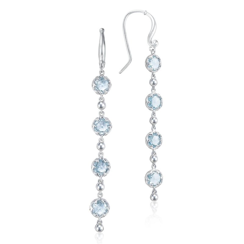 Tacori Fashion Rain Drop Earrings featuring Sky Blue Topaz