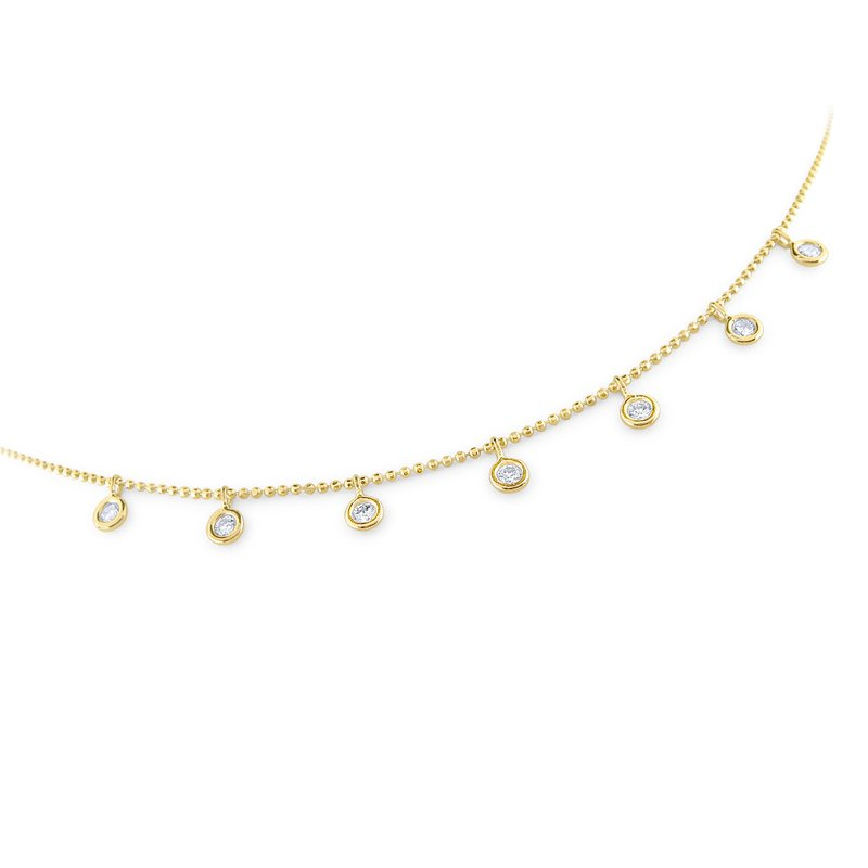 MAZZARESE Fashion Floating Round Diamond Station Necklace Set in 14 kt. Gold