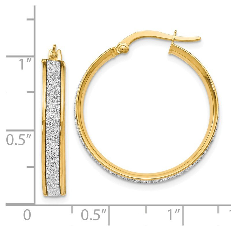 Leslie's Leslie's 14K Polished Glimmer Infused Hoop Earrings