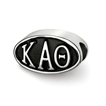 Sterling Silver Kappa Alpha Theta Greek Life Bead