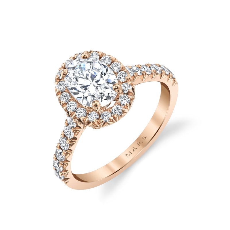 MARS Jewelry MARS 27080 Engagement Ring, 0.60 Ctw.