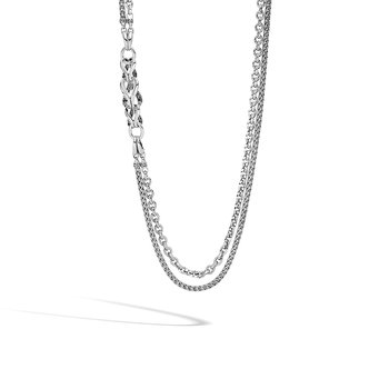 Twisted Chain 5.5MM Bracelet in Silver with Diamonds