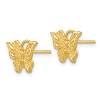 14K Diamond-cut Butterfly Earrings