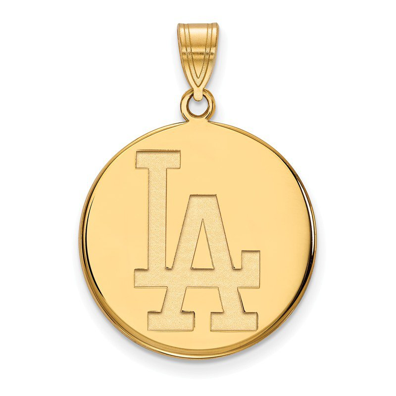 MLB Gold-Plated Sterling Silver Los Angeles Dodgers MLB Pendant