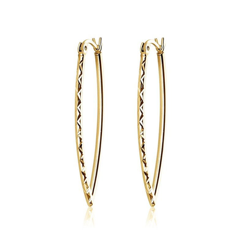 LARUS Jewelry Long Gold Earrings