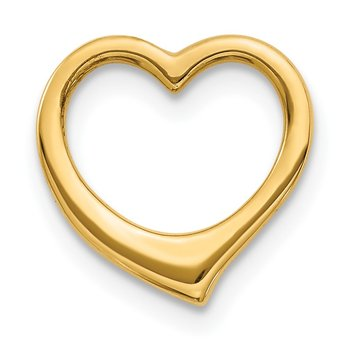 14K Polished Heart Chain Slide