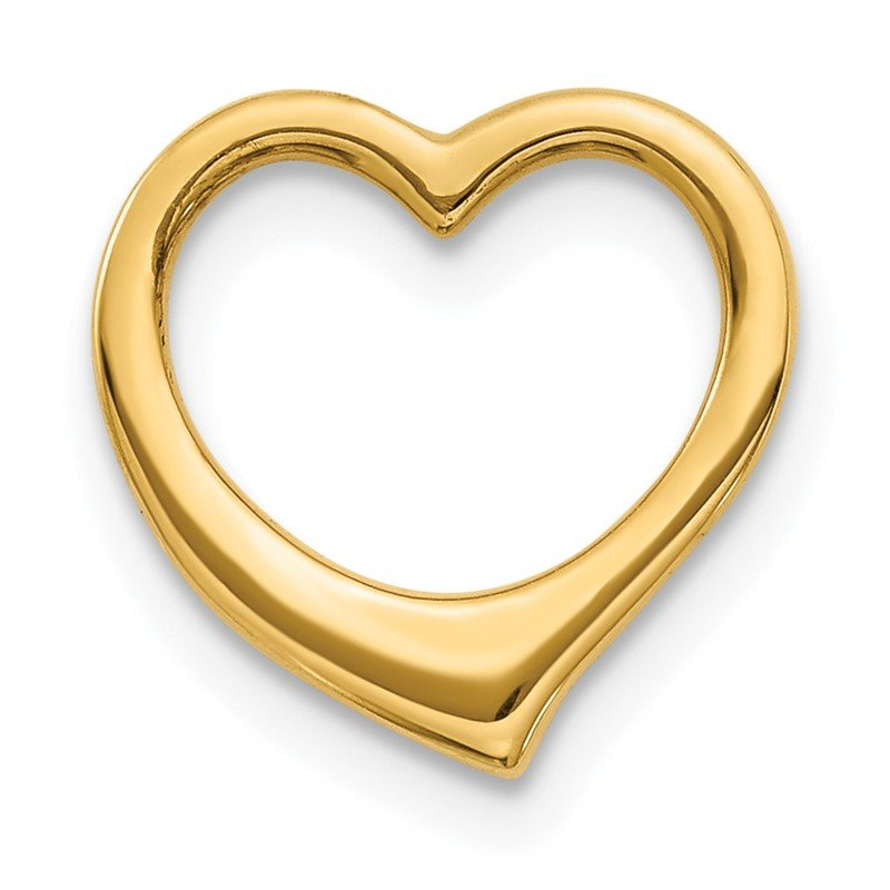 Quality Gold 14K Polished Heart Chain Slide