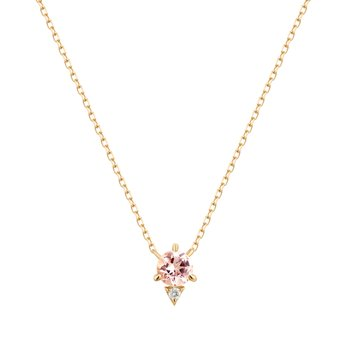 Georgia | Morganite And Diamond Necklace