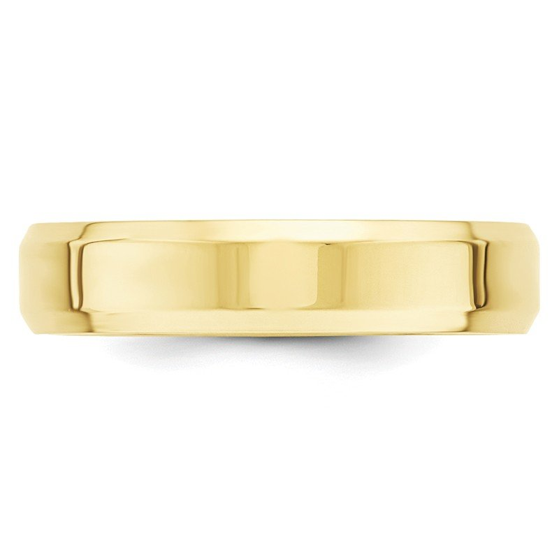 Quality Gold 10KY 5mm Bevel Edge Comfort Fit Band Size 10